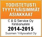 Todistetusti tyytyväisimmät asiakkaat 2014-2015, Suomen Yritysvaliot -sertifikaatti